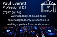 Academy of Sound Business Cards