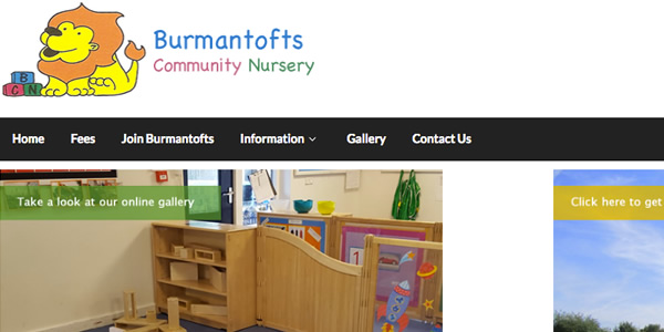 Burmantofts Nursery School web site