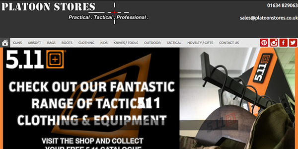 Platoon Stores ecommerce web site